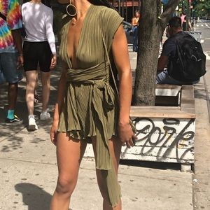 Ribbed polyester romper